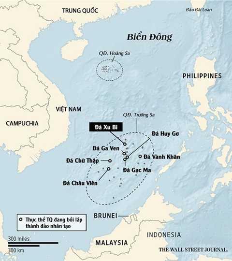 Vị trí đá Chữ thập trên bản đồ. Đồ họa: Wall Street Journal