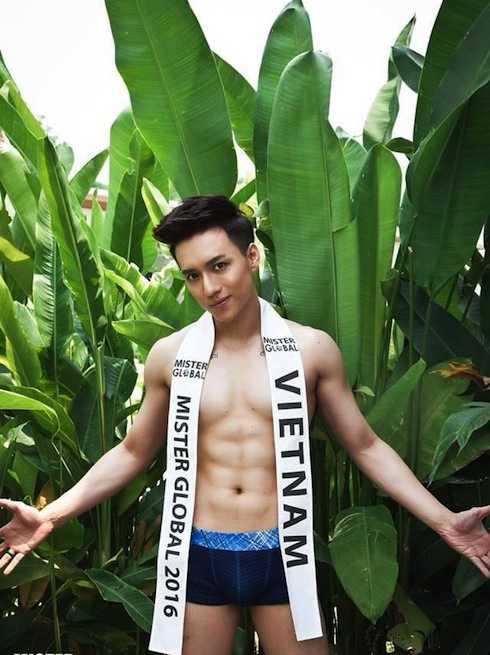 Thí sinh Vĩnh Cường tại cuộc thi Mister Global 2016.