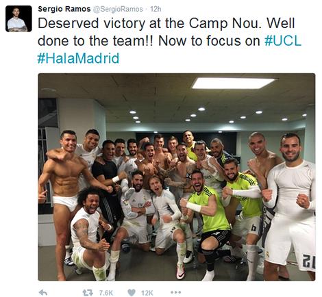 Sergio Ramos không quên hướng tới mục tiêu tại Champions League