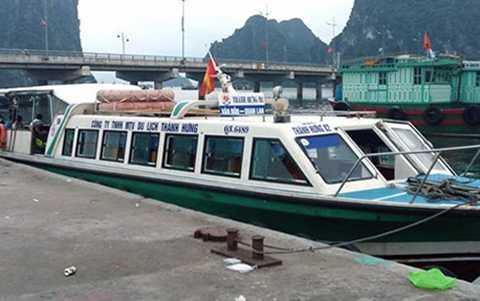 Tàu cao tốc Thành Hưng 02 chạy tuyến Vân Đồn - Hòn Gai bị đình chỉ hoạt động do chở quá số người quy định - Ảnh VOV