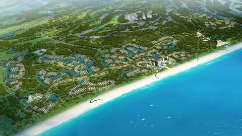 Phối cảnh tổng thể dự án Quần thể resort, biệt thự nghỉ dưỡng và giải trí cao cấp FLC Quảng Bình