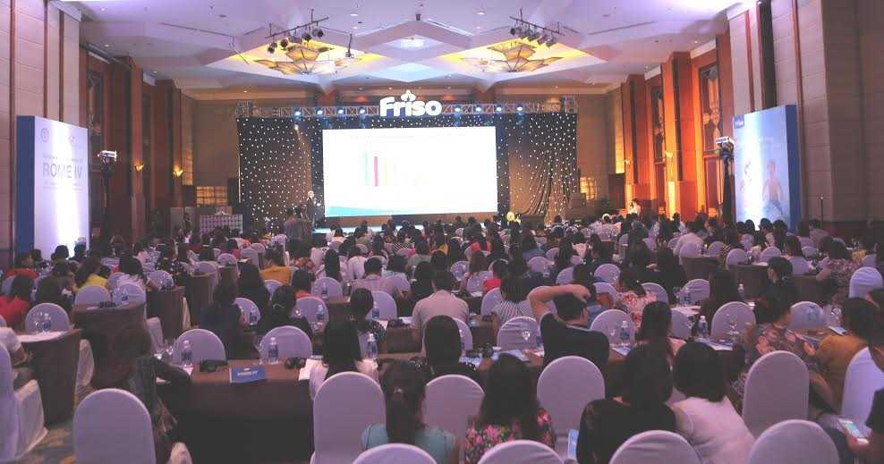 hội nghị khoa học ROME IV - tiêu chuẩn mới trong chẩn đoán các rối loạn chức năng tiêu hóa của trẻ em với sự đồng hành của nhãn hàng Friso (thuộc công ty FrieslandCampina Việt Nam).