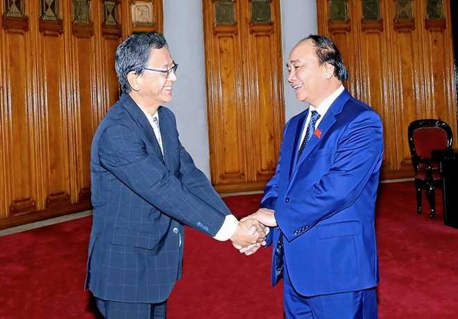 Thủ tướng Nguyễn Xuân Phúc và Đại sứ Nhật Bản Fukada Hiroshi