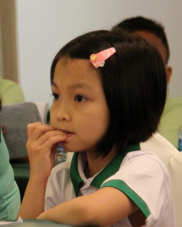 Nhà vô địch cờ vua thế giới lứa U8 năm 2015 - Nguyễn Lê Cẩm Hiền (ảnh: Hoàng Tùng)