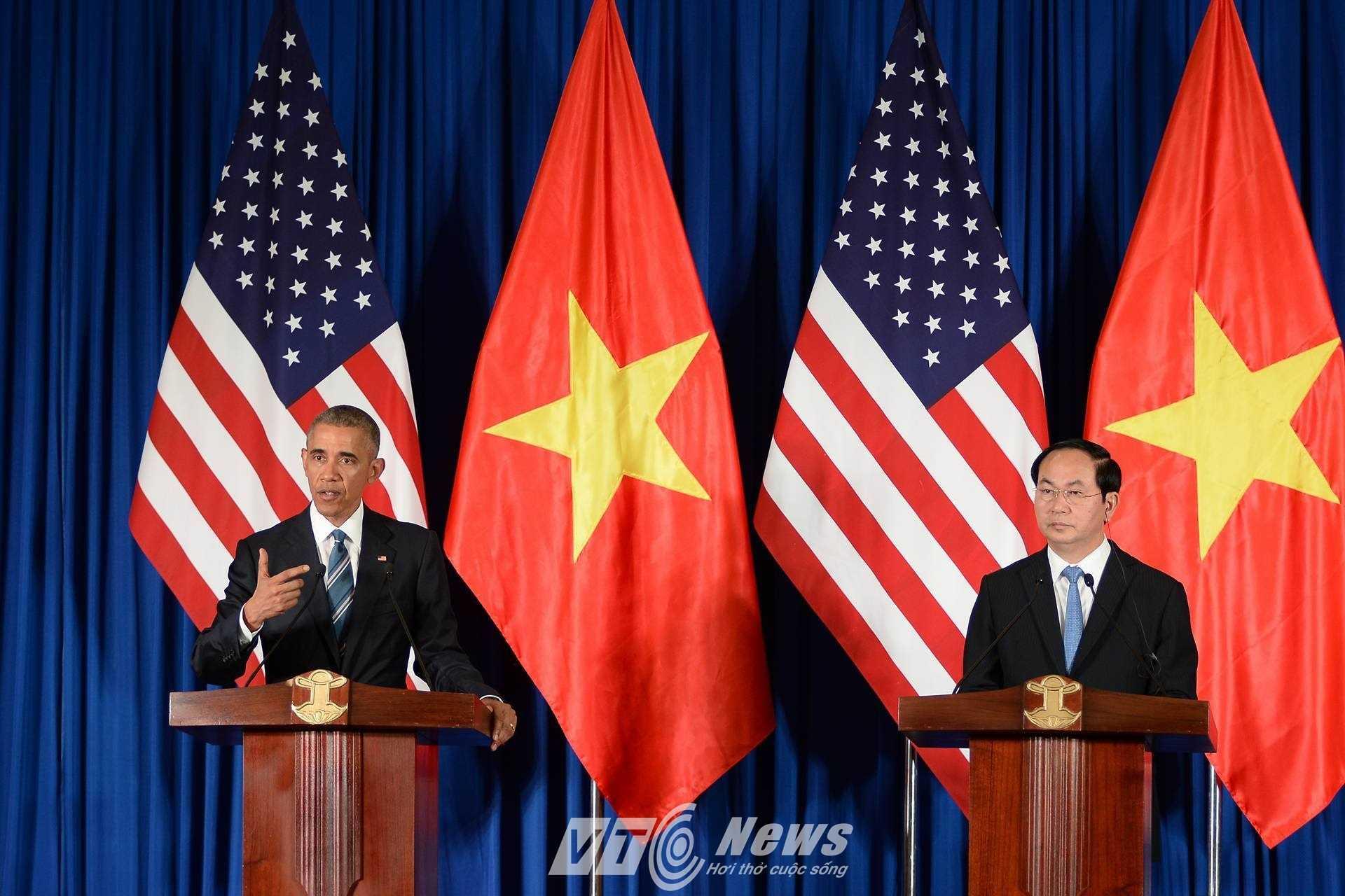 Tổng thống Obama khẳng định ủng hộ Việt Nam trong các vấn đề liên quan đến Biển Đông (ảnh: Tùng Đinh)