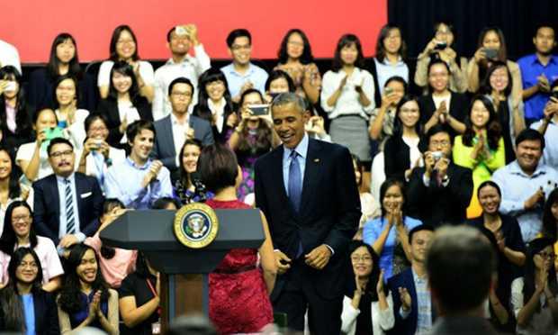 Tôi biết không dễ để giới thiệu Tổng thống Mỹ. Ảnh: Đức Trần.