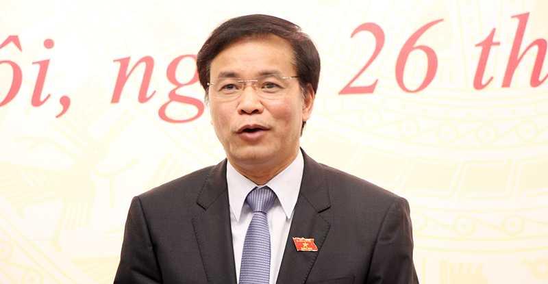 Ông Nguyễn Hạnh Phúc, Chánh văn phòng Hội đồng bầu cử quốc gia, Tổng thư ký Quốc hội trả lời về trường hợp ông Trần Đăng Tuấn không lọt vào danh sách bầu cử Quốc hội khóa XIV (Ảnh: Phạm Thịnh)
