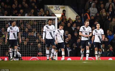 Tottenham hòa thất vọng đêm qua