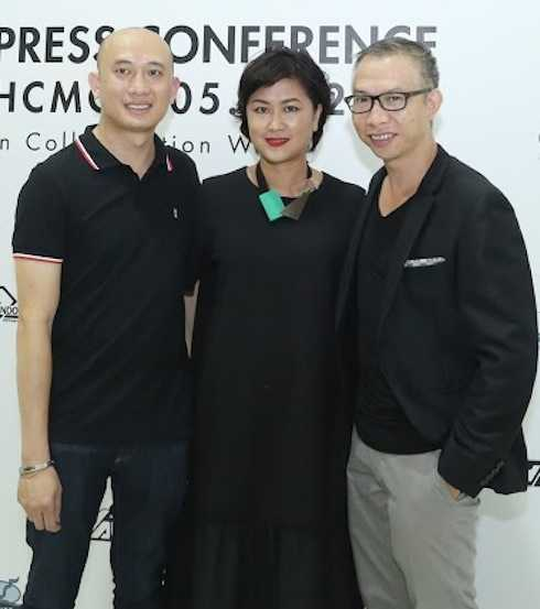 Giám đốc marketing Thái Bá Dũng, giám đốc sáng tạo Hương Color, nhiếp ảnh gia Phạm Hoài Nam.