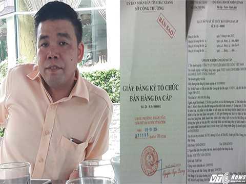 Ông Vũ Ngọc Thuyển, người đang phải đối diện với bản án 4 năm tù giam song vẫn được tại ngoại và điều hành hoạt động đa cấp.