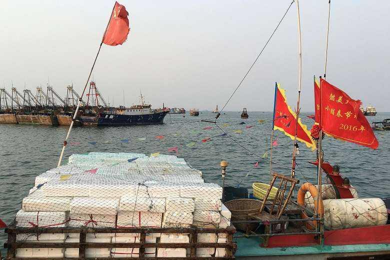 Đội tàu cá TQ được trang bị hiện đại, thậm chí mang cả vũ khí khi ra Biển Đông. Ảnh: Reuters