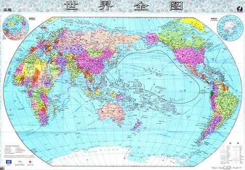 Bản đô thế giới do Bộ Giáo dục Trung Quốc mới công bố có đường 251 đoạn bao gồm cả quần đảo Hawaii và Micronesia cũng nằm trong vùng lãnh thổ nước này. Nguồn: Bộ Giáo dục Trung Quốc