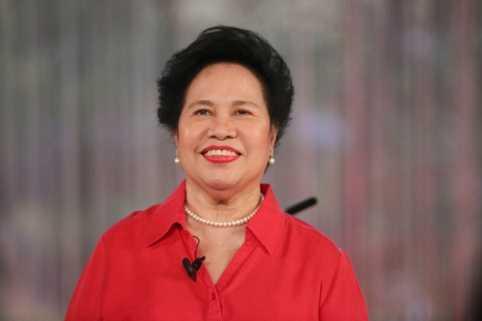Nữ nghị sĩ Miriam Defensor-Santiago. Ảnh: ABS-CBN News