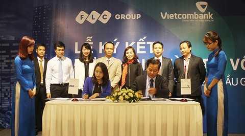 Lãnh đạo Tập đoàn FLC và Vietcombank Ba Đình ký hợp đồng hợp tác