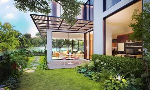Thiết kế biệt thự theo phong cách hiện đại, sang trọng với nội thất liền tường cao cấp