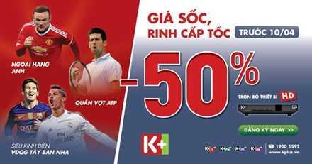 Một poster giới thiệu các giải thể thao trên hệ thống kênh của K+