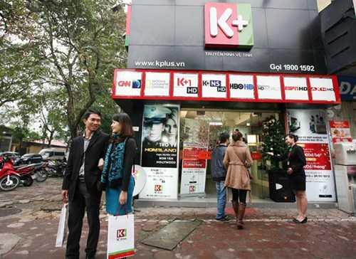 Cửa hàng bán các sản phẩm truyền hình của K+
