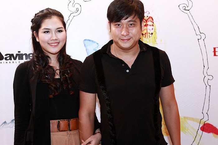Vợ chồng diễn viên Minh Tiệp.