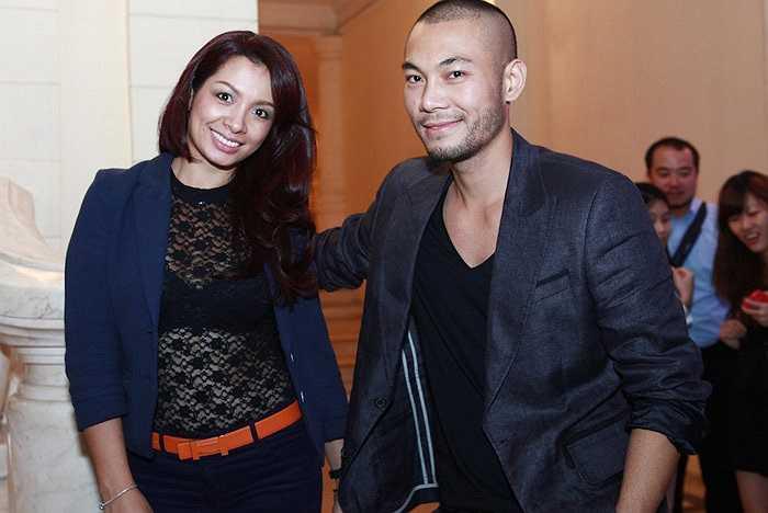 Người mẫu Thúy Hạnh và người mẫu Trần Doãn Tuấn. Thúy Hạnh giữ vai trò chỉ đạo catwalk trong show diễn này.