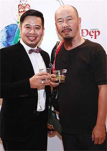 Họa sỹ Lê Công Đạt và ông Nguyễn Anh Tú