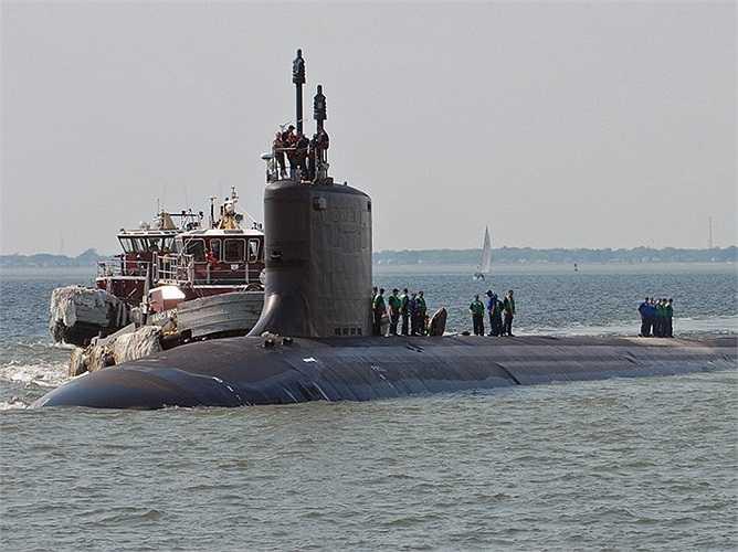 Tàu ngầm USS North Carolina, chiếc thứ 4 của lớp Virginia chạy động cơ nguyên tử S9G được chế tạo bởi Phòng thí nghiệm năng lượng nguyên tử của Hải quân Mỹ