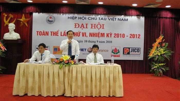Trên cương vị là Chủ tịch Hiệp hội chủ tàu Việt Nam, Dương Chí Dũng chủ trì Đại hội toàn thể nhiệm kỳ VI Hiệp hội Chủ tàu Việt Nam.
