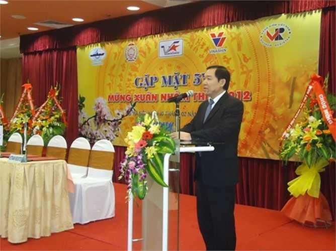 Trên cương vị Cục trưởng Cục Hàng hải Việt Nam, Dương Chí Dũng phát biểu tại buổi gặp mặt truyền thống 5V.