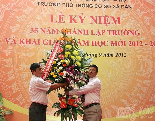 Trường PTCS Xã Đàn nhận được sự quan tâm của lãnh đạo TP Hà Nội và các Sở ban ngành.