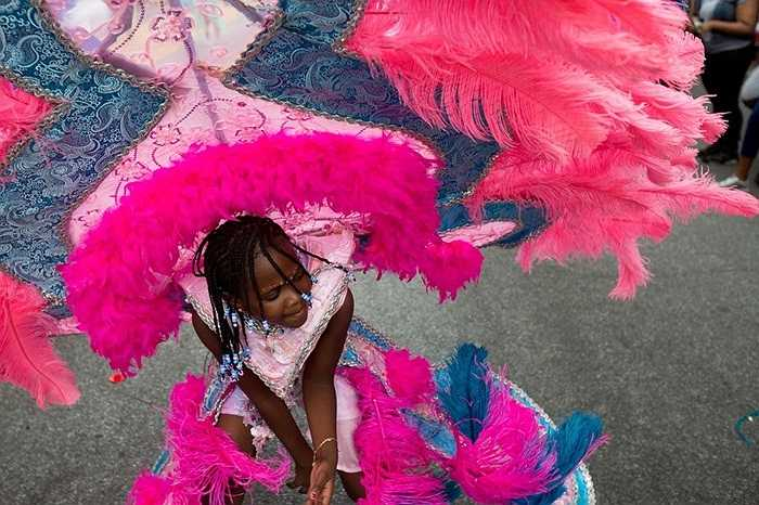 Naomi Williams (8 tuổi) tham gia lễ hội American Day ở Brooklyn, New York, Mỹ