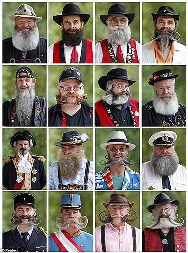 Có những bộ râu được đánh giá cao bởi sự chăm sóc tỉ mỉ, công phu, nhưng cũng có những tác phẩm khiến người xem trầm trồ vì sự độc đáo, mới lạ, thậm chí là kỳ quái