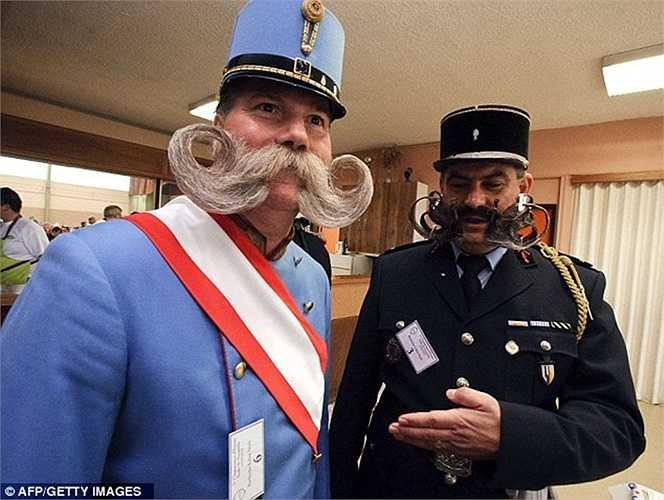 Hai bộ râu được uốn cong khá giống nhau cùng tham gia cuộc thi đặc biệt