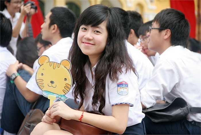 Nữ sinh trường THPT Chu Văn An xinh đẹp