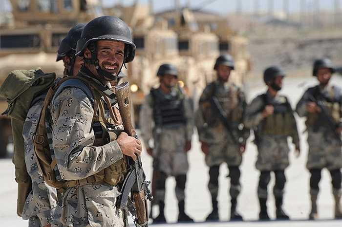 Binh sĩ thuộc lực lượng an ninh biên giới của Afghanistan