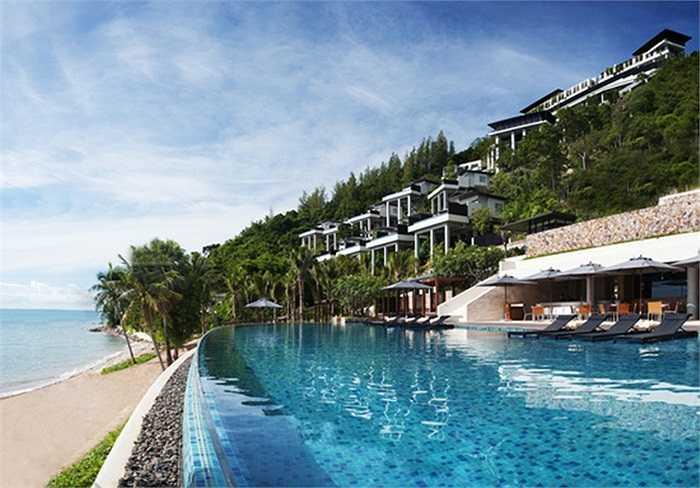 Khu nghỉ dưỡng cao cấp Conrad Koh Samui ở bờ biển Aow Thai, Thái Lan
