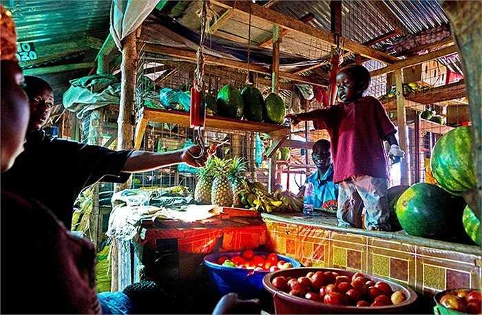 Một góc khu chợ Konyo Konyo ở Juba, Nam Sudan