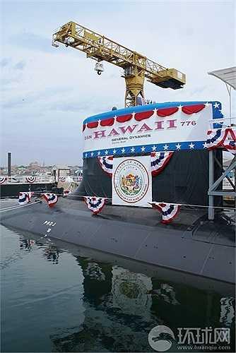 Tàu ngầm lớp Virginia USS Hawaii, có thể tấn công các mục tiêu trên bờ bằng tên lửa hành trình Tomahawk, sẽ lưu lại Philippines từ ngày 7-12/9