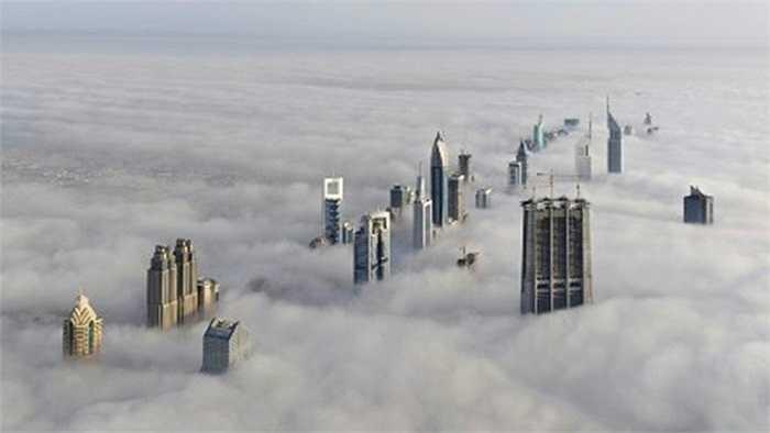 Dubai huyền ảo trong những đám mây