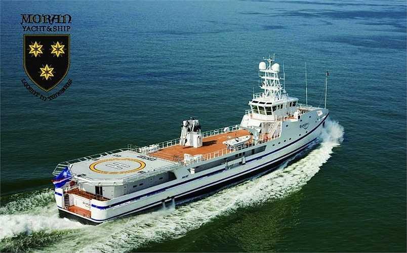 Chiếc Garcon có diện tích khoang hơn 235m2, ngoại trừ sân đỗ trực thăng và có thể đạt vận tốc 25 hải lý/giờ.(Ảnh: Monaco Yacht Show)