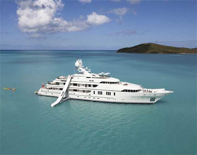 Siêu du thuyền RoMa được xuất xưởng năm 2010 với giá 51,7 triệu USD. Nội thất của RoMa được đánh giá cao nhờ tính hiện đại và ấn tượng.(Ảnh: Monaco Yacht Show)