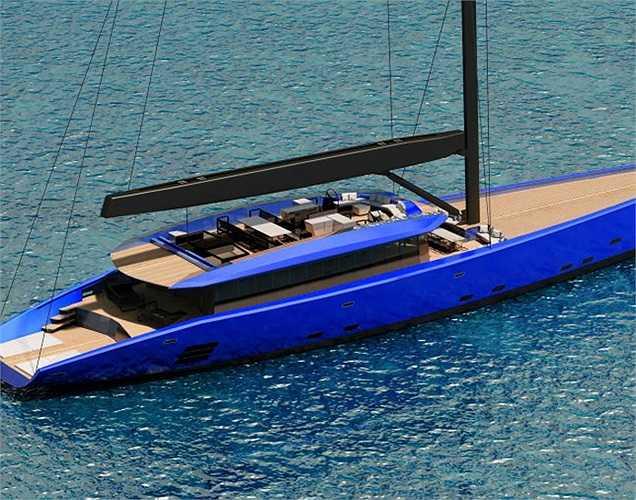 Better Place là loại du thuyền được làm bằng sợi carbon lớn nhất từ trước đến nay. Nó có chiều dài hơn 50m.(Ảnh: Monaco Yacht Show)