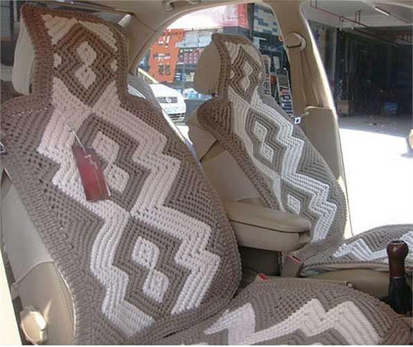 Ghế cũng có trang trí bằng len