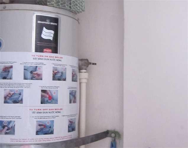 Nguyên nhân khiến cho nước lâu nóng, theo bác Luyện là do ống dẫn nước được thiết kế quá to