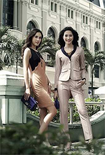 Bên cạnh những shoot hình riêng, tân hoa hậu còn có những bức hình chụp chung với người đẹp Nguyễn Thị Hà