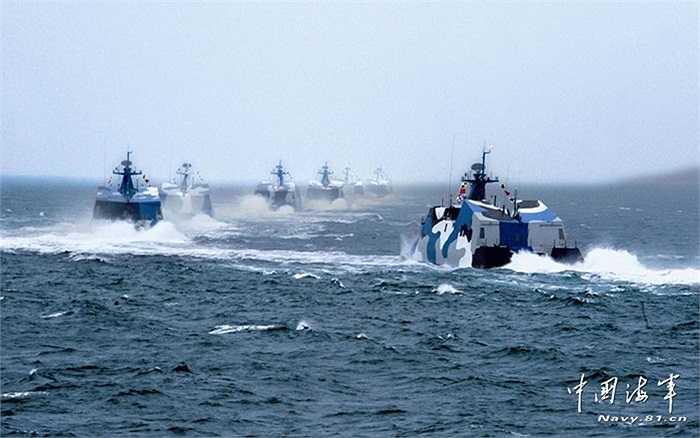 Loạt chiến hạm tuần tra của hải quân Trung Quốc