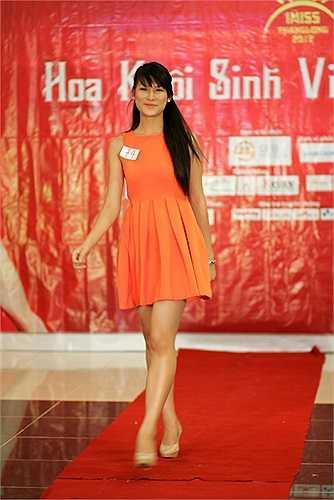 Ngọc Anh - cô gái vừa mới trở về từ cuộc thi Miss Sport cũng tham gia Imiss Thăng Long 2012