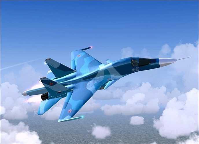 Máy bay ném bom hạng nặng Su-34 của Không quân Nga