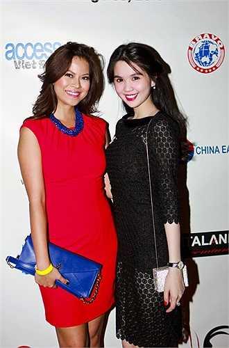 Cô đọ sắc cùng người đẹp Thiên Trang