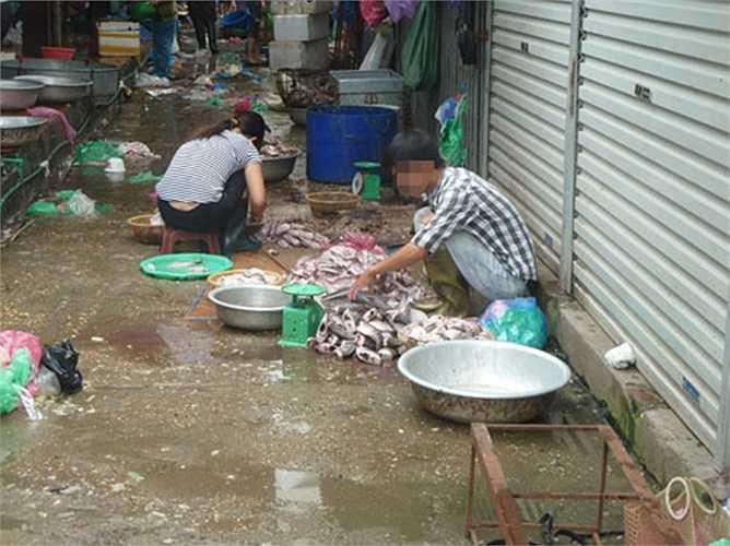 Chị Nguyễn Thị H, bán cá lâu năm ở chợ cho biết: Những loại cá này người mua về ăn rất ít, đa số là công nhân... (Ảnh: GDVN)