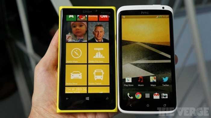 So sánh mặt trước giữa Lumia 920 và HTC One X
