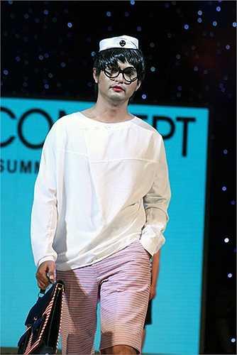 Đức Tiến trong chương trình Men's Fashion show với phong cách không thể đụng hàng.